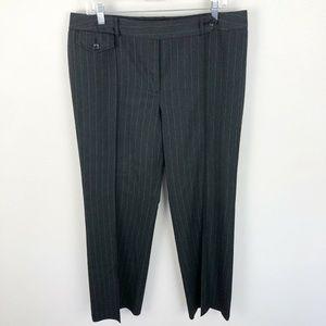 Ann Taylor Dress Pants Gray Blue Striped Straight